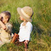 kids on safari Tanzania
