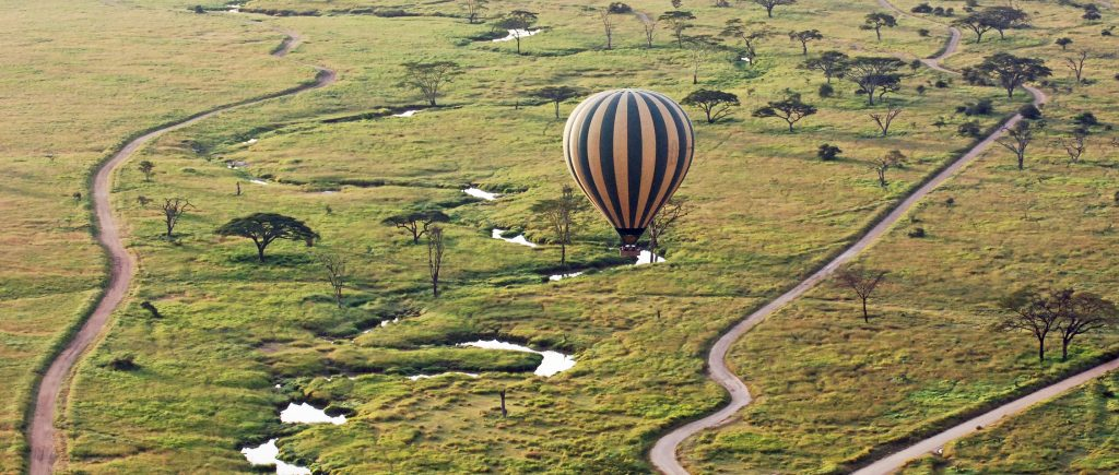 balloon safari serengeti flying