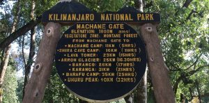 Machame route Kilimanjaro 7 days