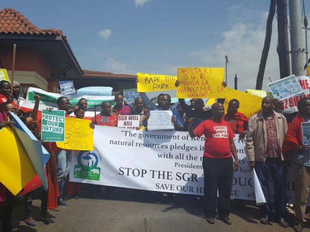 Protests for SGR Nairobi
