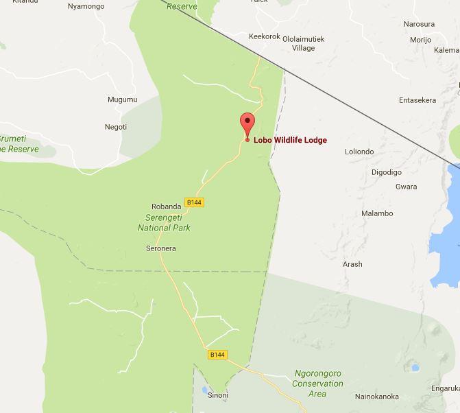Lobo Wildlife Lodge Location