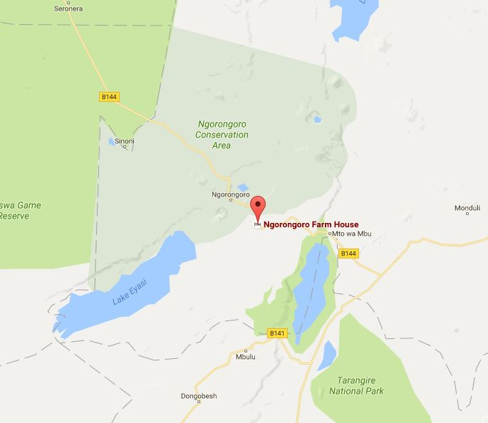 Ngorongoro Farm House Location