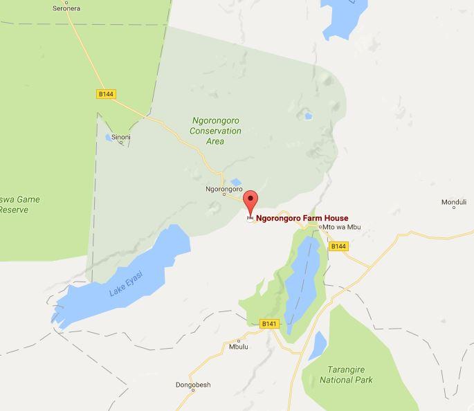 Ngorongoro Farm House Location