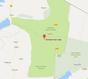 Serengeti Sopa Lodge Location