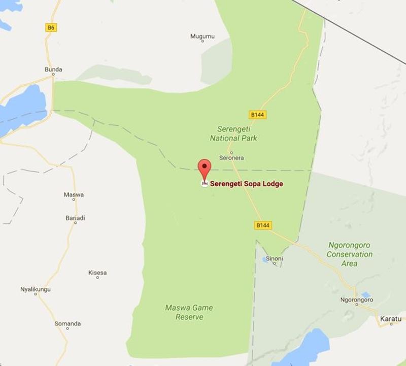 Serengeti Sopa Lodge Location