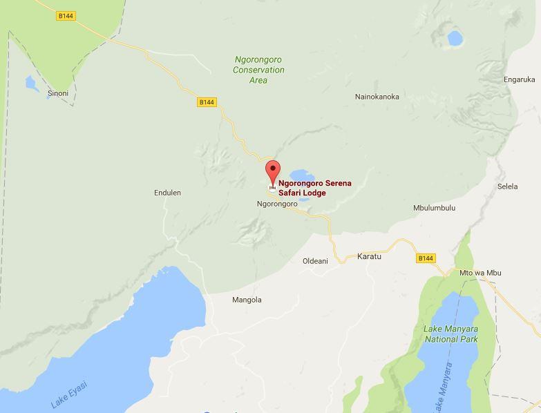 Ngorongoro Serena Location