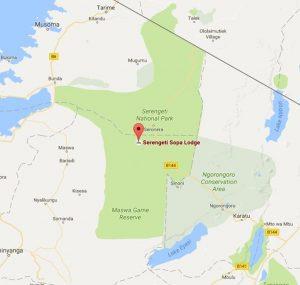 Ngorongoro Sopa Lodge Location