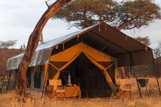 Serengeti Kati Kati Camp tents