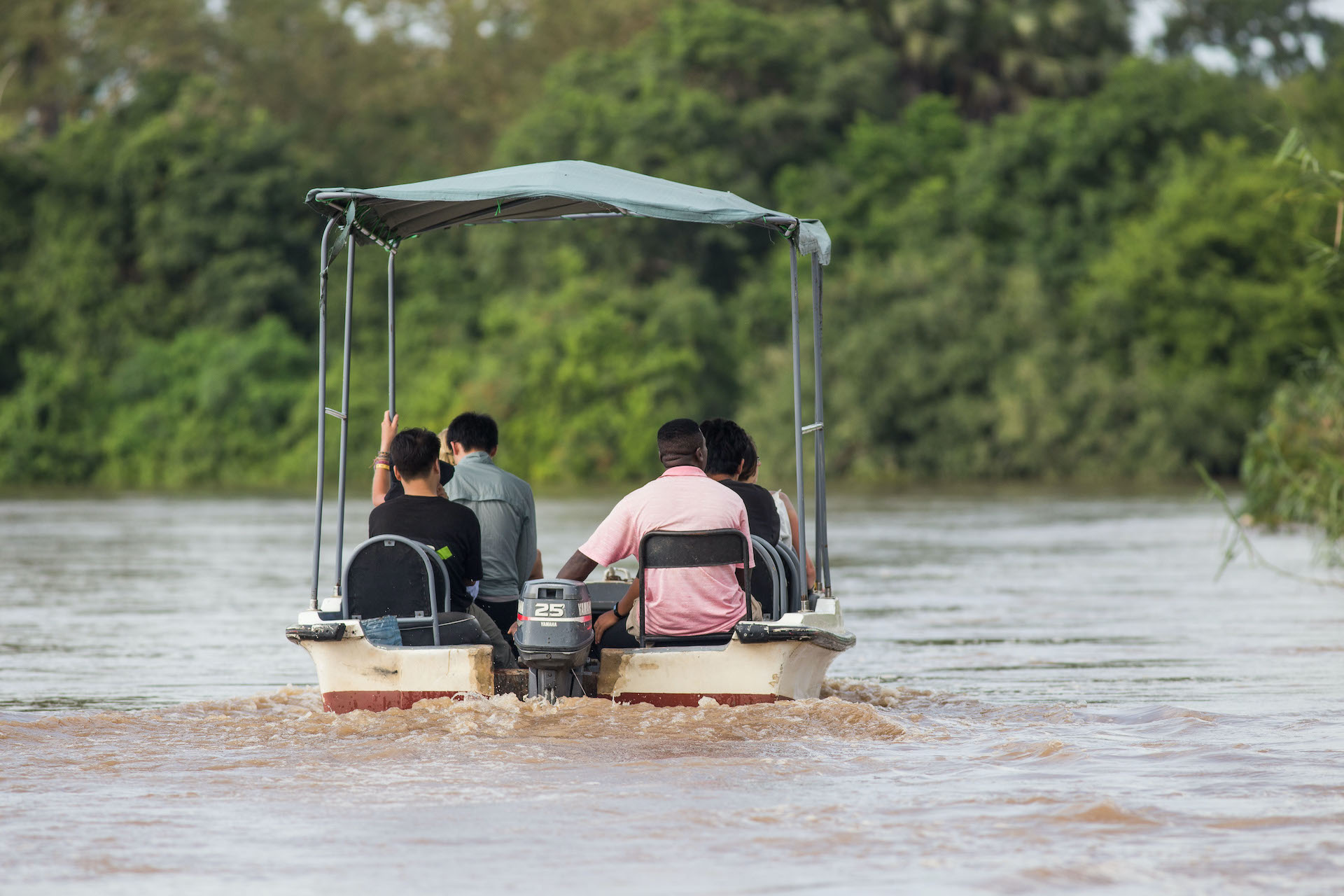 Boat Safari Selous Southern Tanzania