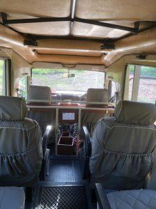 Tanzania Safari Cars Interior