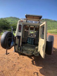Safari Car Luggage Area